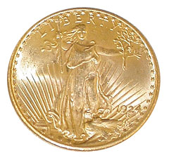 St. Gaudin's $20 Gold Coin